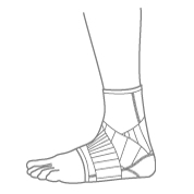 Push Ankle Braces Illustration
