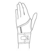 Push Wrist Braces Illustration